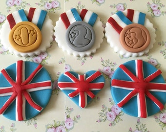 Olympic #5 Cupcake & Cake Toppers