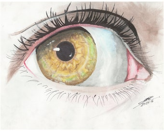 Realistic art of an eye