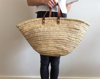 vintage. 70s woven market bag