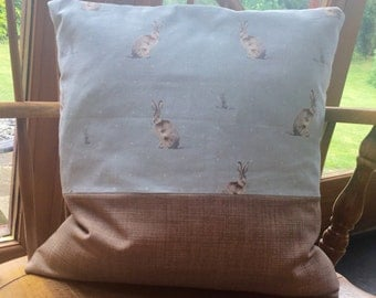 Duckegg Blue Hare Country Cushion/Pillow Handmade Beautiful
