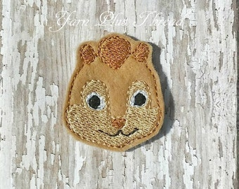 Chip-Munks Feltie Embroidery Design