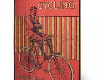 Fancy Cycling   Wooden Wall Hanging/Art Print on wood panel 40 x 59cm (16 x 23.6 inches) SW11753P