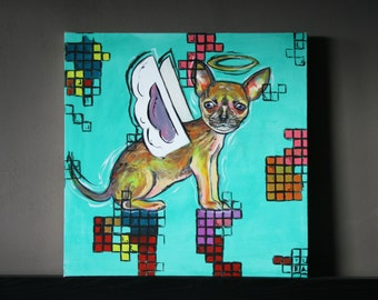 Winged Chihuahua, dog, Angel, angel dog