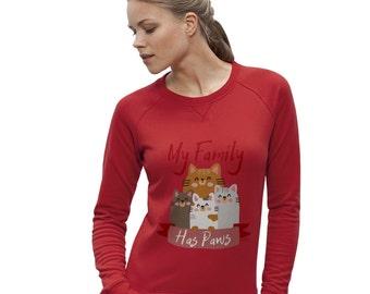 Women's My Family Has Paws Sweatshirt