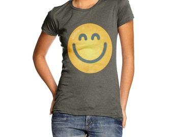 Women's Very Pleased Emoji T-Shirt