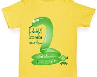 Girl's Funny Snake I Shouldn't Have Eaten So Much T-Shirt