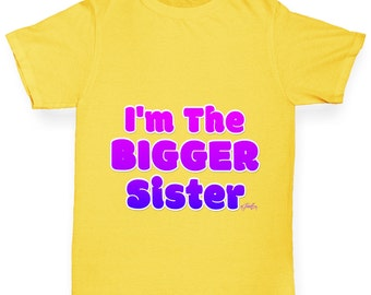 Girl's I'm The Bigger Brother T-Shirt
