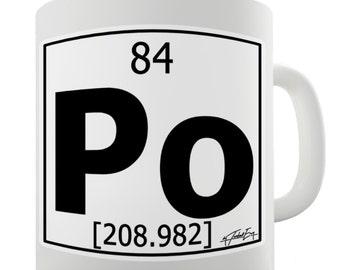 Periodic Table Of Elements Po Polonium Ceramic Mug