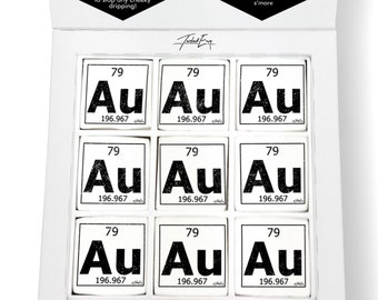 Au periodic table etsy periodic table of elements au gold printed magical marshmallows urtaz