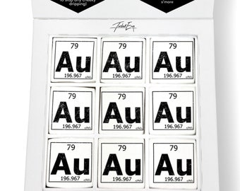 Au periodic table etsy periodic table of elements au gold printed magical marshmallows urtaz Image collections
