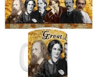 Great British Writers Ceramic Novelty Mug