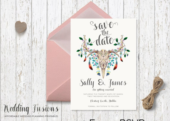 save the date printable save the date skull save date flowers and