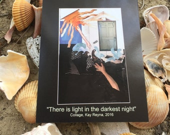 """Artwork """"There is light in the darkest night"""" Postcard"""
