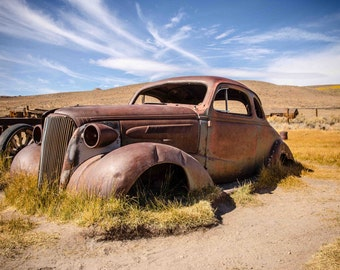 Old Rusted car from Bodie Ghost Town