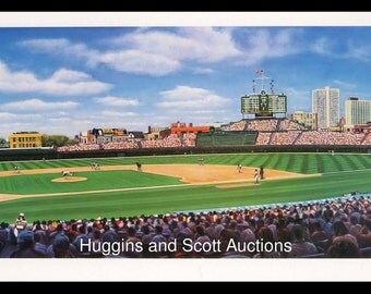 "Chicago Cubs ""Sunlit Wrigley Field"" limited edition lithograph William Feldman Print Art Rare"