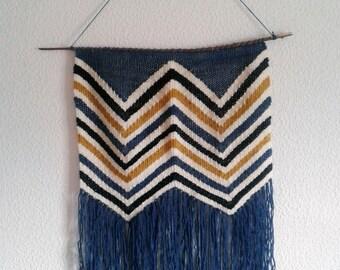 Size L hanging wall weaving ethnic weaving wall art handmade