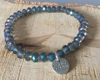 Blue faceted bracelet