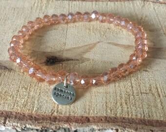 Copper-colored faceted bracelet