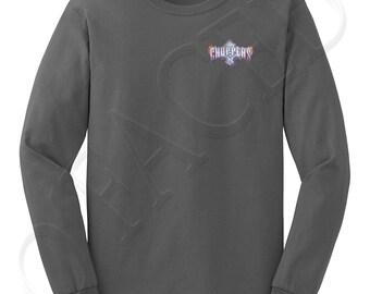 Choppers Crest Adults LS Tees Choppers Crest Men's Long Sleeve T-shirt Biker Logo  - 1266P_GMLS