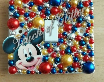 Mickey mouse bling light switch