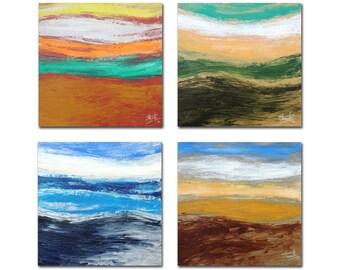 Four Seasons II-  A Set of Four Artworks - Modern Wall Art - Home Decor - Contemporary