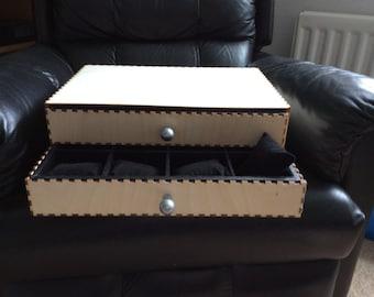 Two drawer watch box