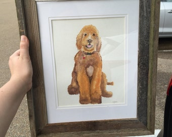Pet portrait (this one is *sold* commission) original custom painting