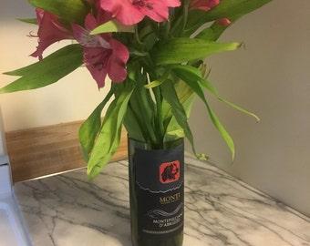 Hand-Cut Wine Bottle Vase, Monti