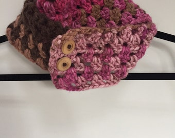 Crocheted Skinny Infinity Scarf