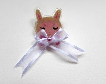 Sleepy Bunny Pin