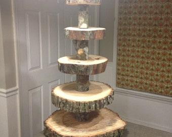 Log cupcake stand
