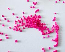 1 Bag of 50 or 100 Grams 11/0 Fuschia Pink Seed Beads