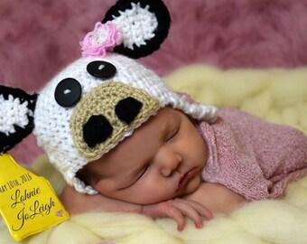 Newborn Cow Hat
