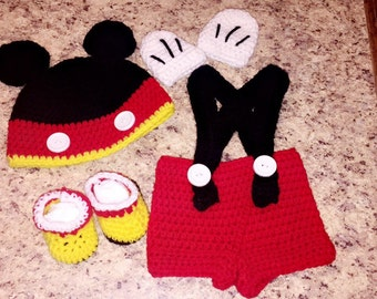 Newborn Mickey Mouse outfit