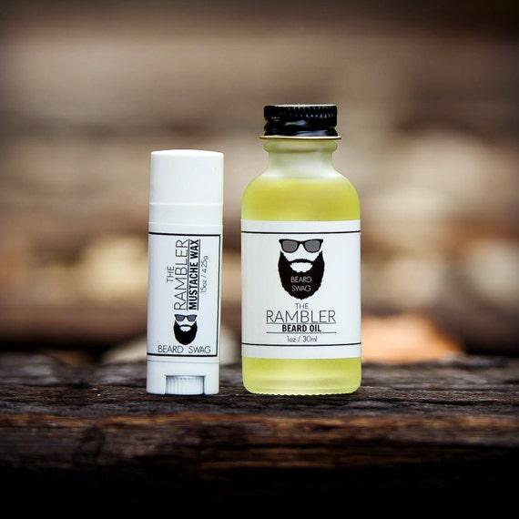 The Rambler Beard Oil And Mustache Wax Combo By Beard Swag
