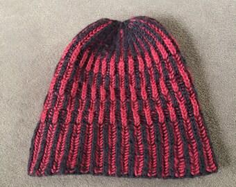 Two-tone rib Hat