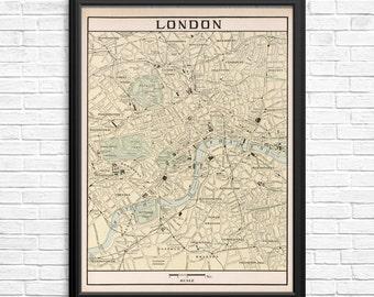 London England Vintage Atlas Page
