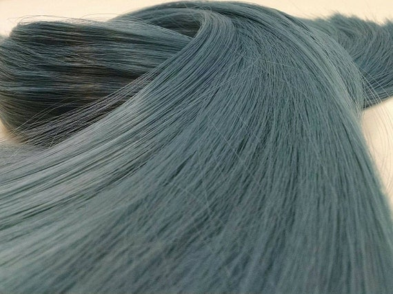 Faded Glory Steel Ash Blue Nylon Doll Hair for Rerooting Barbie, Monster High, Ever After, Crissy, Blythe Rehair My Little Pony Intl Ship