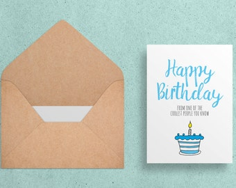 Happy Birthday - Greeting Card - Witty/Funny -  Digital Download - Printable 5x7 -