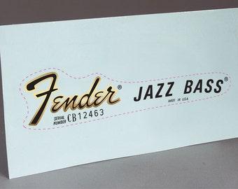 Fender 70'S Jazz Bass precut water slide decal headstock for restoration