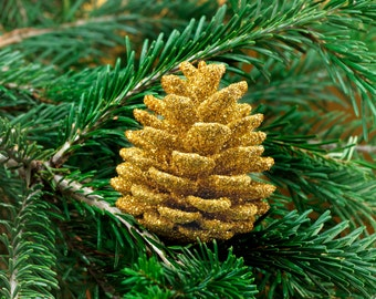natural pine cone Christmas ornament (sia)