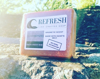 """Refresh Face & Body Soap Handmade """"Magnetize"""" Scent Soap"""