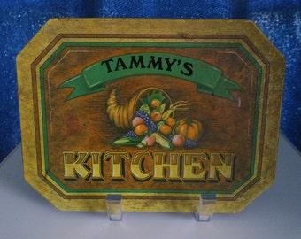 Hot Mat/Trivet/Tammy's Kitchen/Wallcraft A Bromac Company/Antique Tin Series
