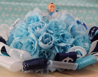 Anchors Aweigh - Table Centerpiece or Cake Topper