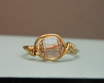 Clear Rose Gold Ring