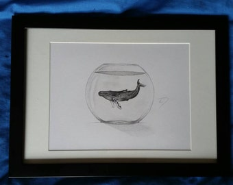 Whale outta water - Print