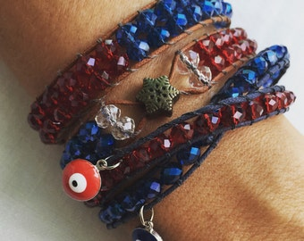 Bracelets made with high quality crystals set of 3