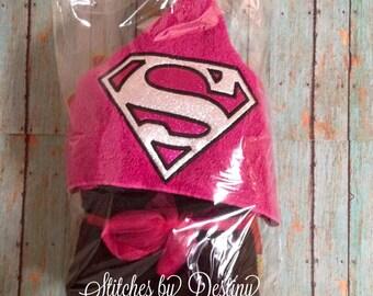 Super Girl hooded towel