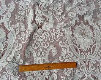 Lace Curtain Fabric by the yard - Westbury White or Ivory