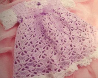 Crochet Baby Girl Dress Size 6 Months